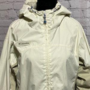 columbia womens rain jacket cream and tan